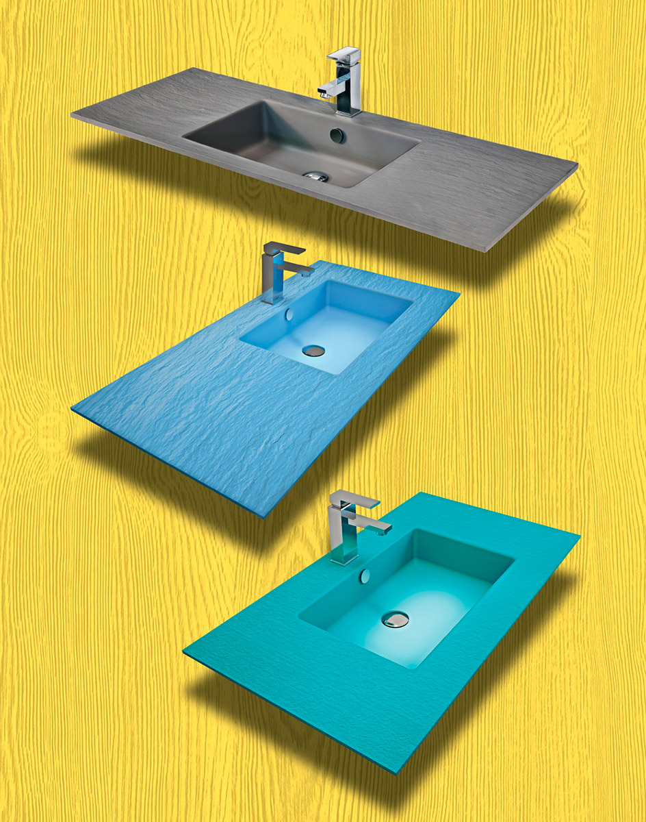 Soluzioni su misura top lavabi Romano Magnante